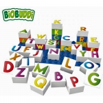Biobuddi Learning Letters Build blocks & 1 Baseplate 37 Piece Playset