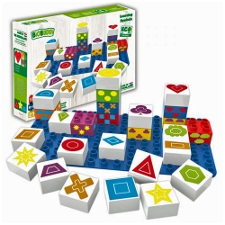 Biobuddi Learning Shapes Build blocks & 1 Baseplate 27 Pie..
