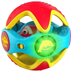 KD TOYS Infinifun Peek-a-Boo Rattle Ball Musical Toy - 12+..