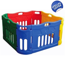 Jolly Kids Versatile Outdoor Indoor Playpen 0+ M..