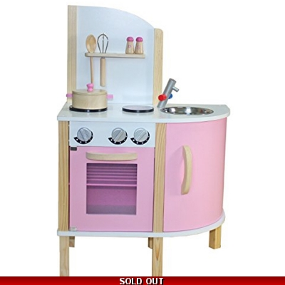 Liberty House Chef Contemporary Wooden Toy Kitchen & Accessories PINK