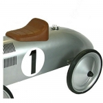 Great Gizmos Retro Racer Sit n Ride Kids Car – Silver - 12+ Months