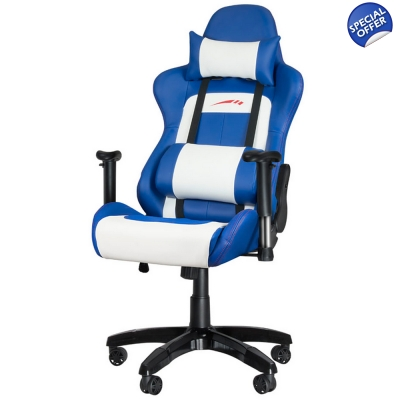 SPEEDLINK Regger Gaming Optimised Chair with 360 Degree Swivel Blue