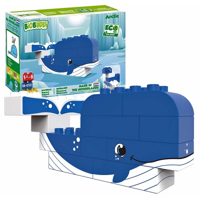 Biobuddi Arctic Whale & Seal Building Blocks 12 Piece - 18+ Months