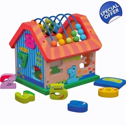 Jumini Childrens Wooden Activity House - 12+ Months