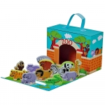 Jumini Childrens Wooden Characters Foldaway Zoo Set - 18+ Months