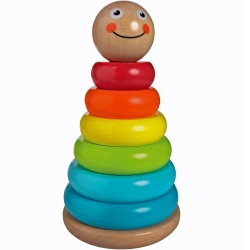 Jumini Childrens Wooden Wobbly Stacker Toy - 12+ Months