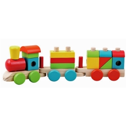 Jumini Childrens Wooden Stacking Train 18 Pieces - 12+ Mon..