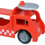 Vilac Wooden 2 In 1 Toddelrs Ride On Fire Truck - 18+ Months