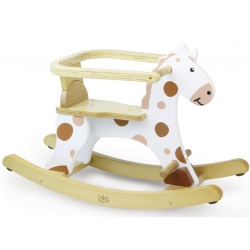 Vilac Wooden Toddlers My First White Rocking Horse - 12+ M..