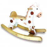 Vilac Wooden Toddlers My First White Rocking Horse - 12+ Months
