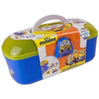 MINIONS Kids Tool Box with 60 Piece Creative Act..