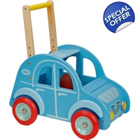 Vilac Wooden Push Along 2CV Car Baby Walker - 12..