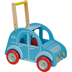 Vilac Wooden Push Along 2CV Car Baby Walker - 12+ Months