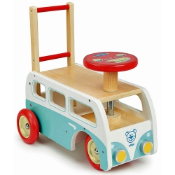 Vilac Wooden 2 In 1 Toddelrs Ride On Camper Van - 12+ Months