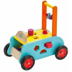 Vilac Wooden 3 In 1 Toddelrs Push Along Trolley Walker - 1..