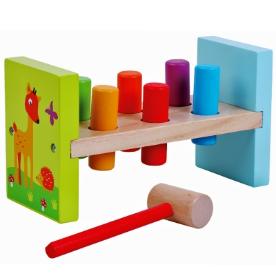 Jumini Childrens Wooden Hammer Bench - 12+ Months
