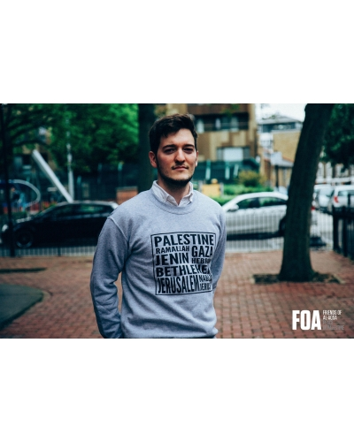 Palestine Cities Grey Sweatshirt