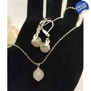 Sterling Silver Necklace Set