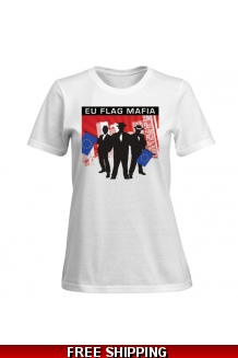 EU Flag Mafia Ladies T-Shirt *UK Only* Includes UK Shipping