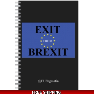 Exit from Brexit lined paper pad *UK Only - price includes postage