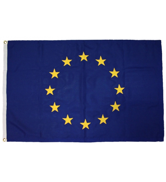 EU Flag with Eyelets 5x3 ft