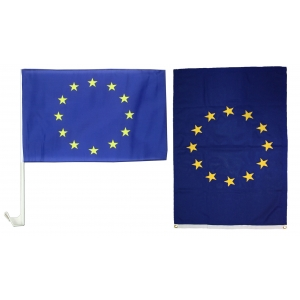 Large EU flag and a Car Flag UK Only