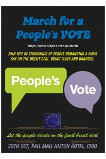 250 Peoples Vote March flyers 20th Oct