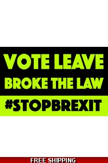 STICKER - VOTE LEAVE BROKE THE LAW £6 for 100 de..