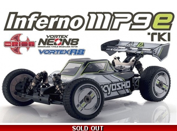 Inferno MP9E TKI EP, White/Black 1/8 Electric 4WD Buggy