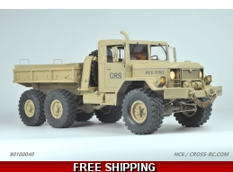 HC6 Off Road Military Truck Kit, 1/10 Scale, 6x4