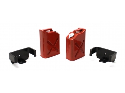 1/10 Scaler Plastic Gasoline Jugs 2 - Red