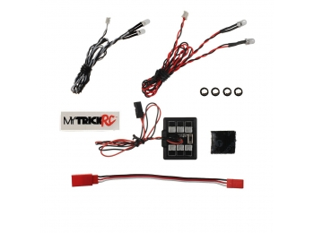 Car Package 2 Headlight - 1-HB-1 Controller 2-White, 2-Red 5mm