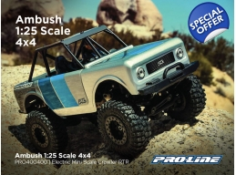 Ambush 1:25 Scale 4x4 Electric Mini Scale Crawler RTR