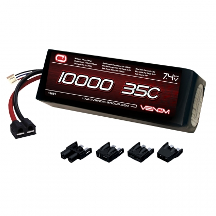 LEGACY 35C 2S 10000mAh 7.4V LiPo Battery, with UNI 1.0 Plugs