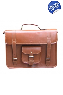 Corporate Leather Bag - Tan