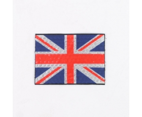 Reflective Colour/Subdued Union Flag Hook and Loop Patch