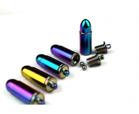 Anodized Bullet Shaped Ti Vial