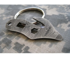 Damascus Key Ring Tool