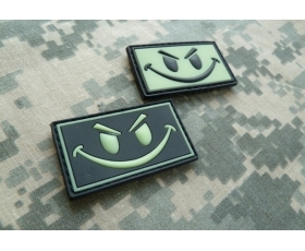 PVC Velcro Patch - GITD Evil Smiley
