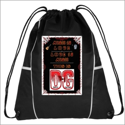 101 B2-G - Diamond Drawstring Cinch Backpack Feat. DG - Music Is Love