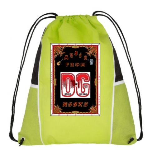 100 B2-F Diamond Drawstring Cinch Backpack Feat. - Music From DG Rocks