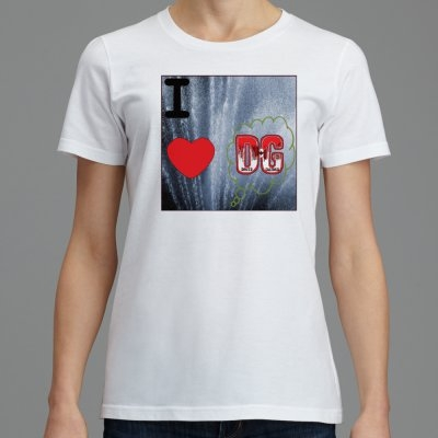 701 B5-A SignatureSoft Women's T-Shirts Featuring Professional Recording Artist David Guitard aka DG  I Love DG