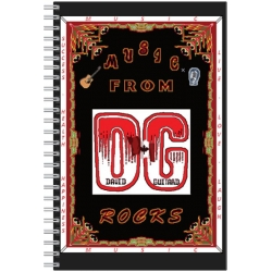 208 B2-E A Notebook for you Featuring 'Music From DG Rocks'