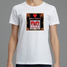 707 A4-D-C SignatureSoft Women's T-Shirts Featuring Professional Recording Artist David Guitard aka DG - Love Your Music DG