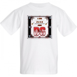 1202 B2-D-11 Fruit of The Loom Youth T-Shirt Featuring DG - I Love Your Music DG
