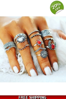 14pc Bohemian Knuckle Ring Set