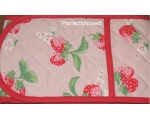 Cath Kidston Oven Gloves Mini Strawberry Pink Vi..