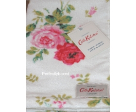 Cath Kidston Guest Towel Antique Rose White Vintage Floral