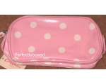 Cath Kidston Make Up Case Bag Spot Pink Oilcloth